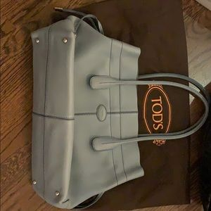 Light blue Tod's tote